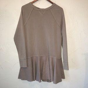 Free people ruffle sweatshirt dress